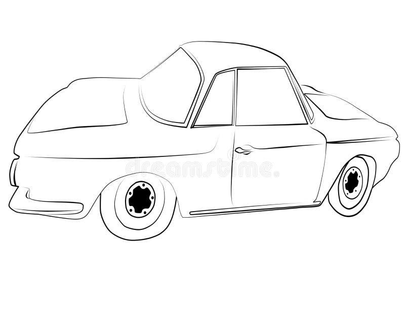 Farbtonseiten, zum von Volkswagen Type3 zu drucken lizenzfreie stockbilder