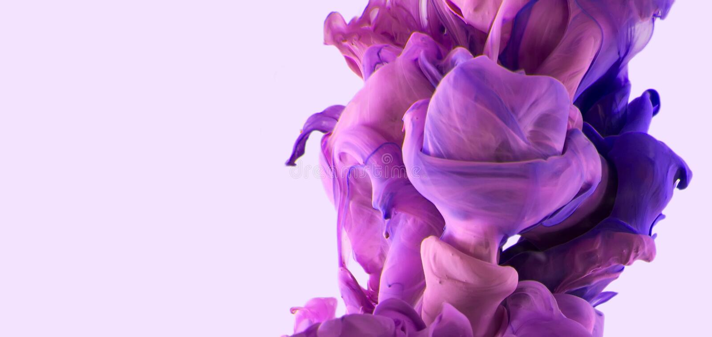 Farbtropfen Violette Pinks stockbild