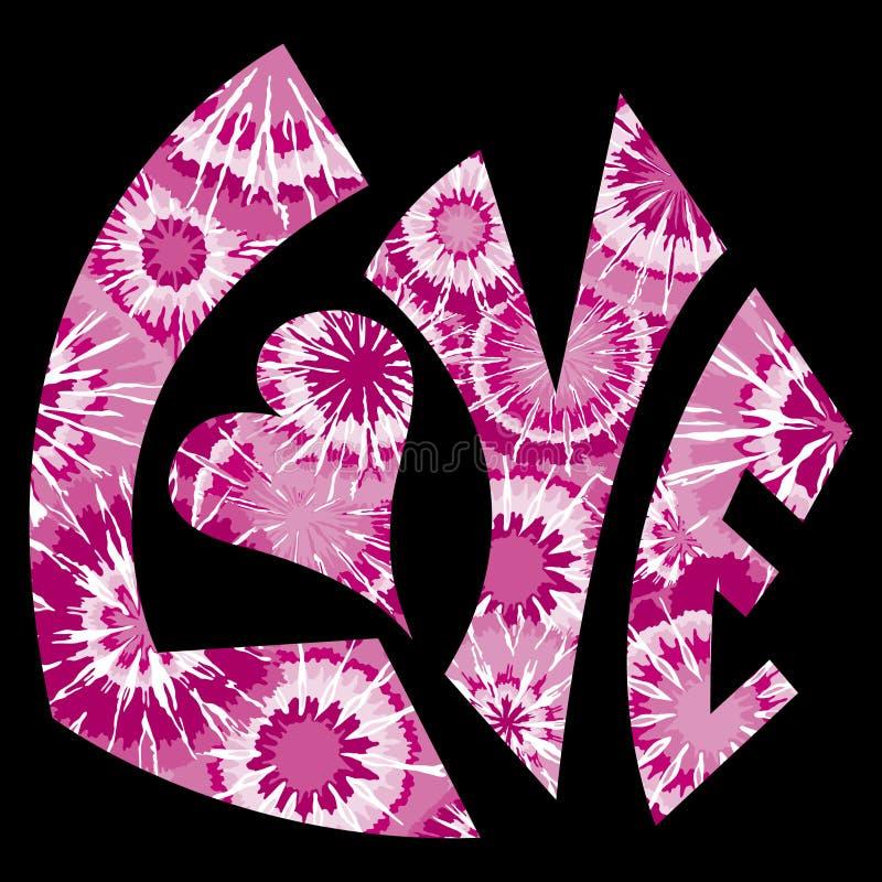 farbujący miłość menchii symbolu krawat ilustracja wektor