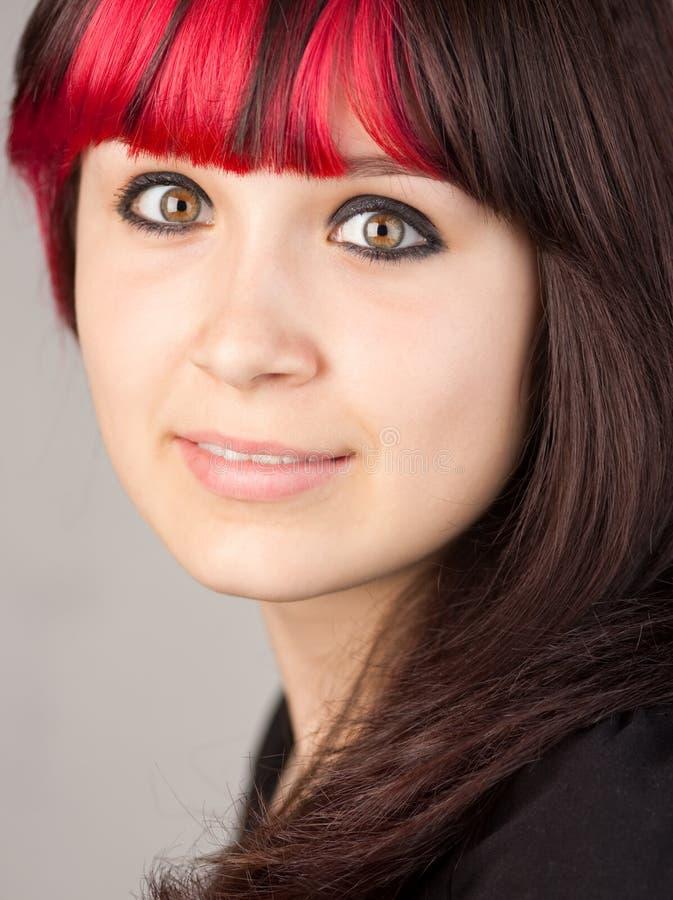 farbujący włosiany czerwony nastolatek zdjęcie stock
