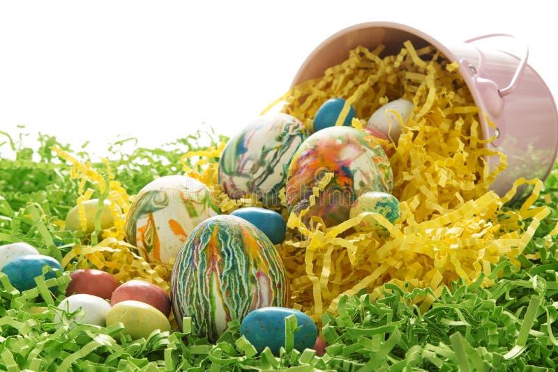 Farbujący Wielkanocni jajka obraz stock