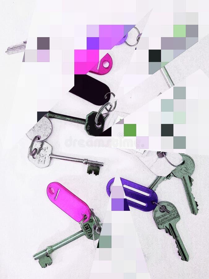 Farbunterlegte Schlüssel lizenzfreies stockfoto