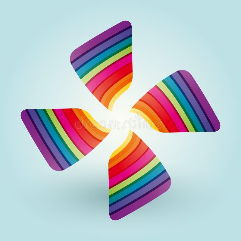 Farbventilatorflügel stock abbildung