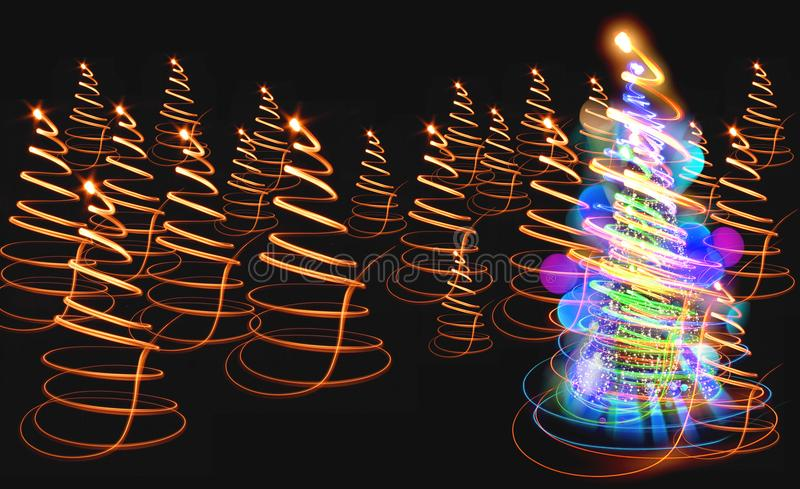 Farbweihnachtsbaum lizenzfreie stockbilder