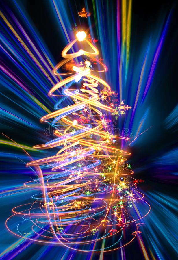 Farbweihnachtsbaum lizenzfreie abbildung