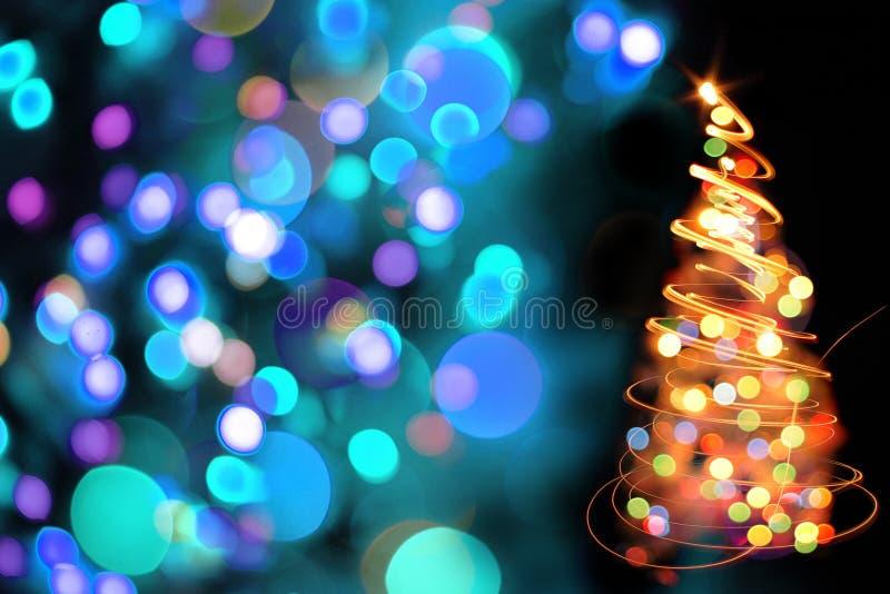 Farbweihnachtsbaum stock abbildung
