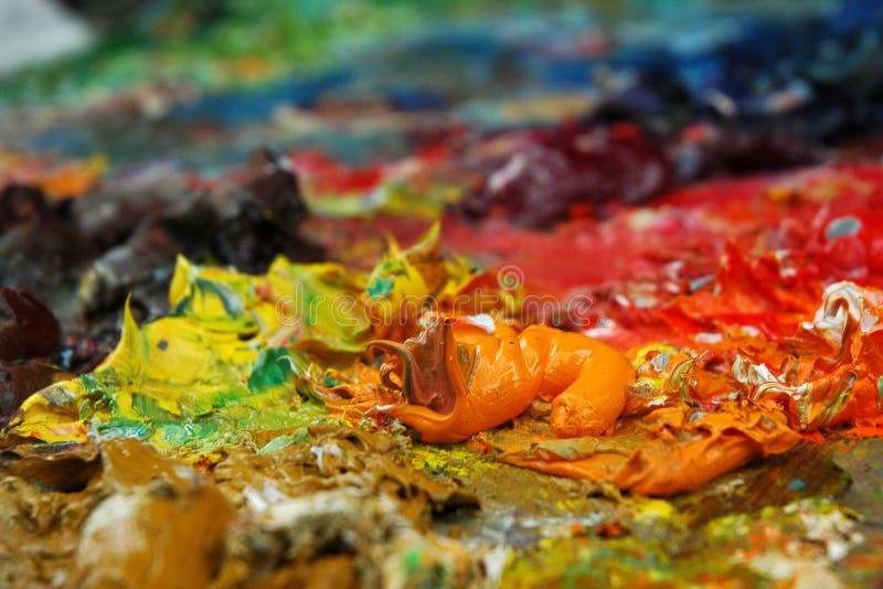 farby świeża paleta obraz stock