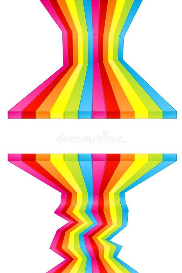 farby barwiona pasków do ściany ilustracji