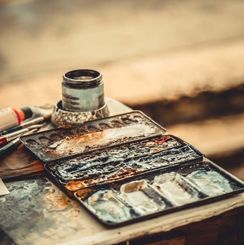 Farby i muśnięcia fotografia stock