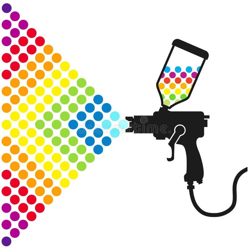 Farby kiści pistolet obrazy stock
