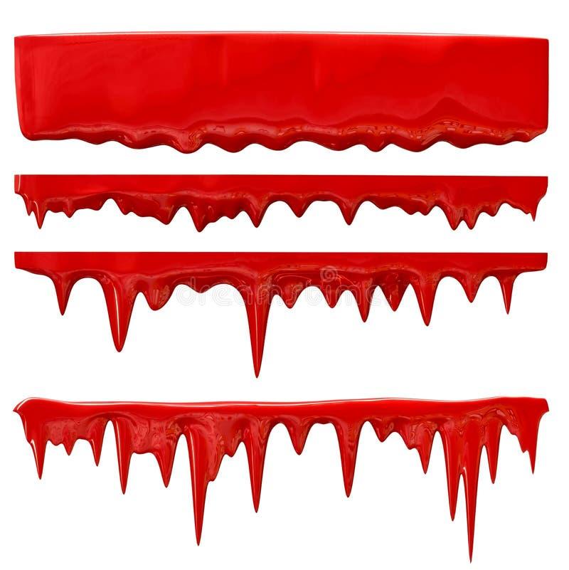 farby krwionośna czerwień ilustracji