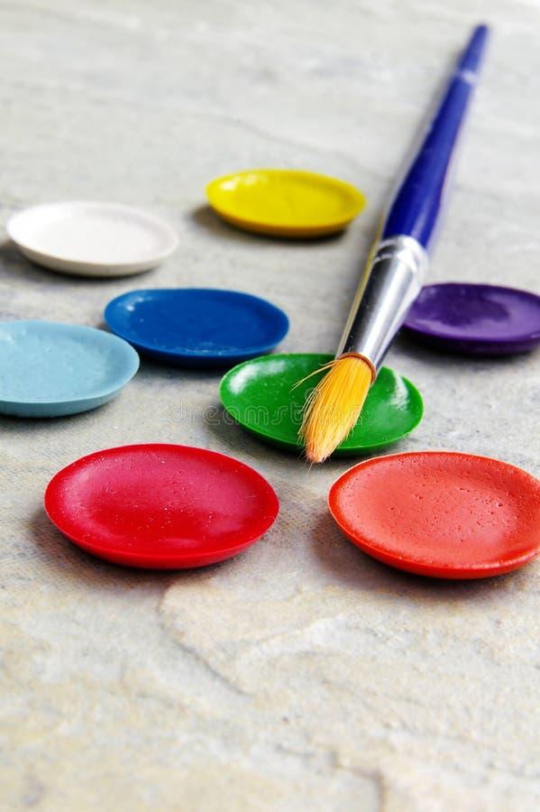 farby makro obrazy stock