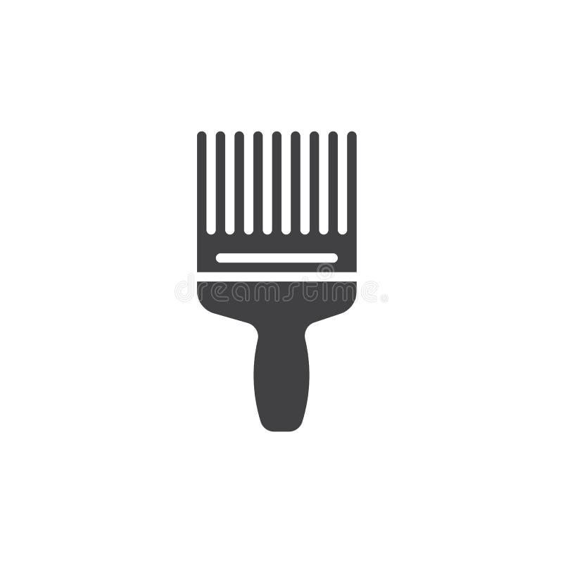Farby muśnięcia ikony wektor, wypełniający mieszkanie znak, stały piktogram odizolowywający na bielu Symbol, logo ilustracja royalty ilustracja