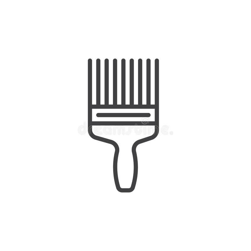 Farby muśnięcia linii ikona, konturu wektoru znak, liniowy stylowy piktogram odizolowywający na bielu ilustracja wektor