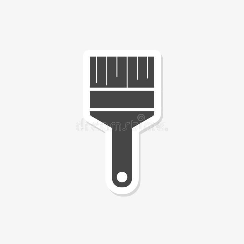 Farby muśnięcia majcher odizolowywający na białym tle Farby muśnięcia ikona w modnym projekta stylu dla sieci royalty ilustracja