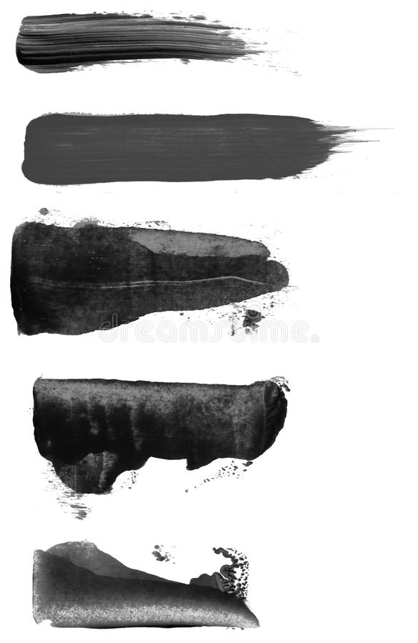 Farby muśnięcia uderzenia royalty ilustracja