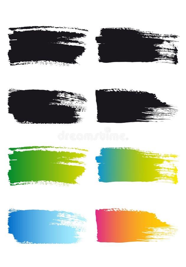 Farby muśnięcia uderzenia ramy, wektor royalty ilustracja