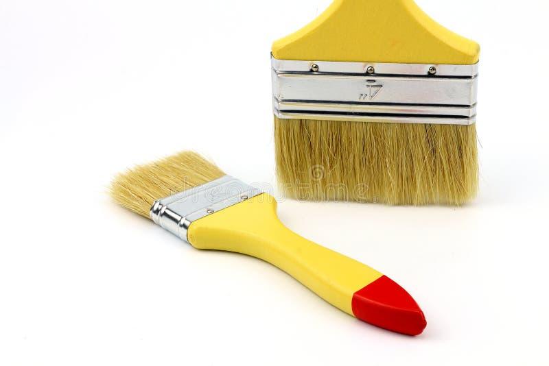 Farby muśnięcie dla sztuki pracy zdjęcia stock