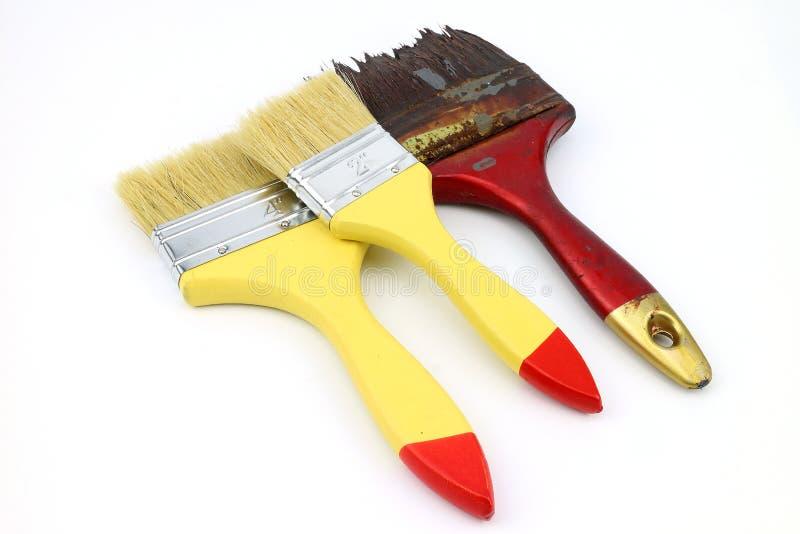 Farby muśnięcie dla sztuki pracy obraz stock