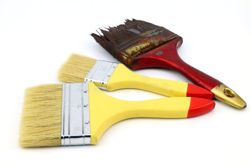 Farby muśnięcie dla sztuki pracy obrazy stock