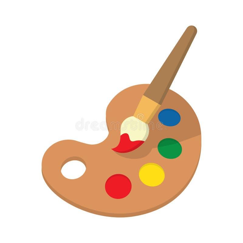 Farby muśnięcie z paletą ilustracji