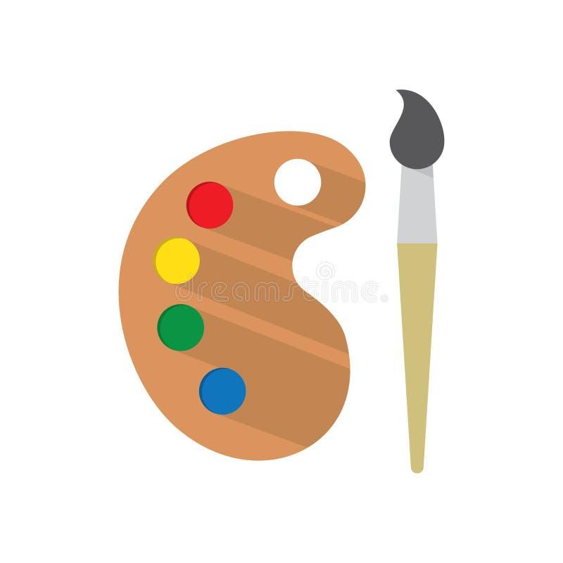 Farby muśnięcie z paletą ilustracja wektor