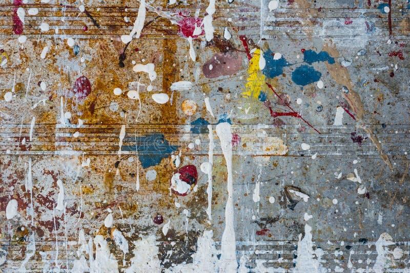 Farby odpryśnięcia metalu tekstury tło zdjęcie royalty free