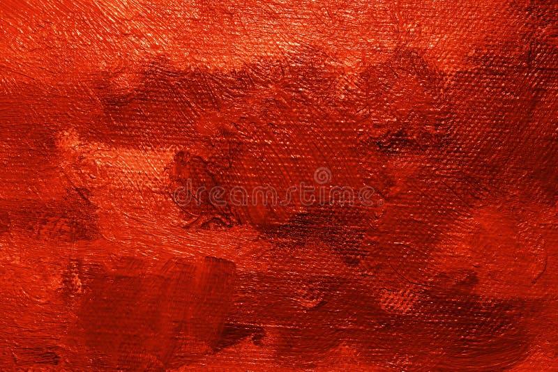 farby oleju czerwone tło royalty ilustracja