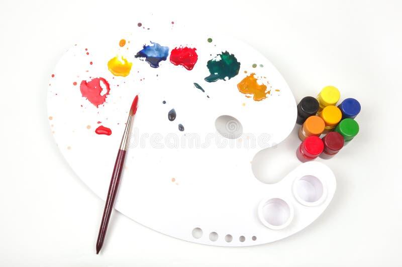 farby paleta obraz stock