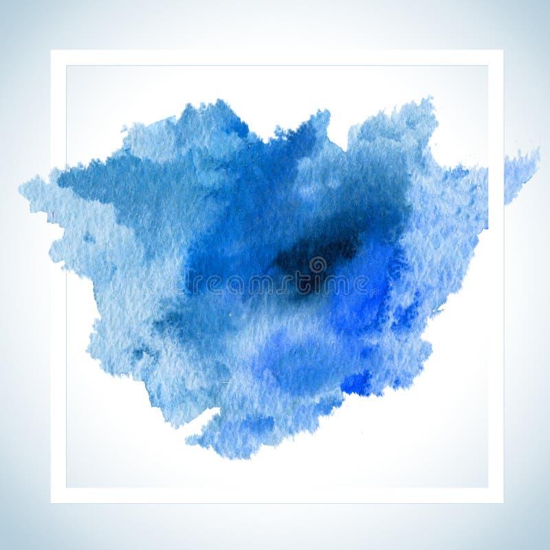 Farby plamy karty Raster projekt Akwareli uderzenia szablonu fot teksta plakatowy literowanie lub inspiracyjny saying ilustracja wektor