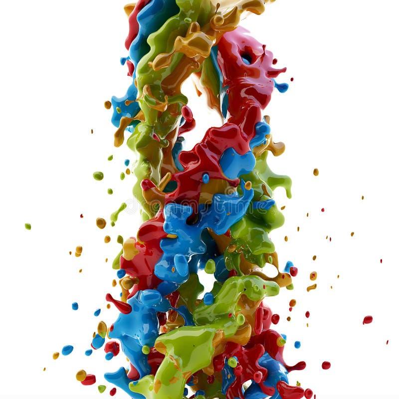 Farby pluśnięcie obraz stock