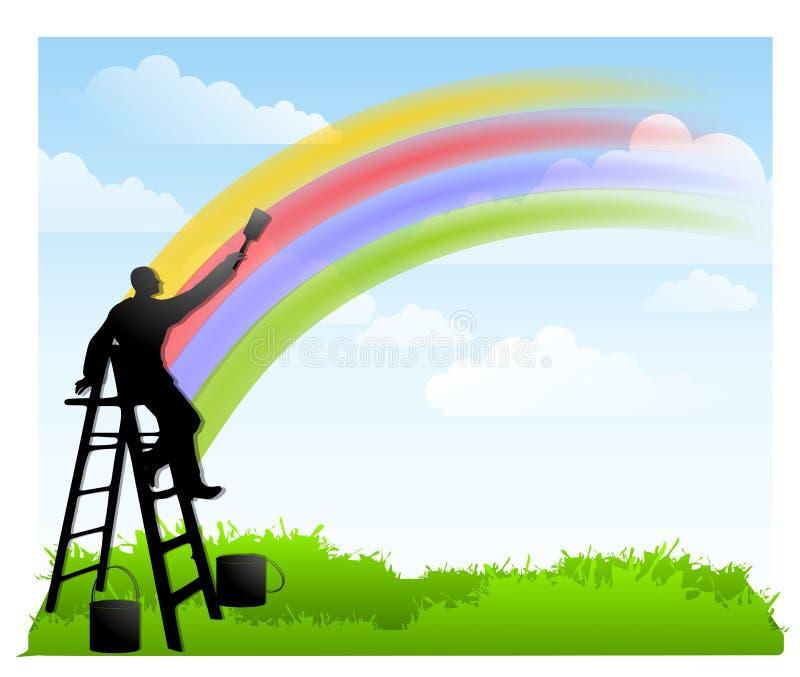 - farby rainbow ilustracji