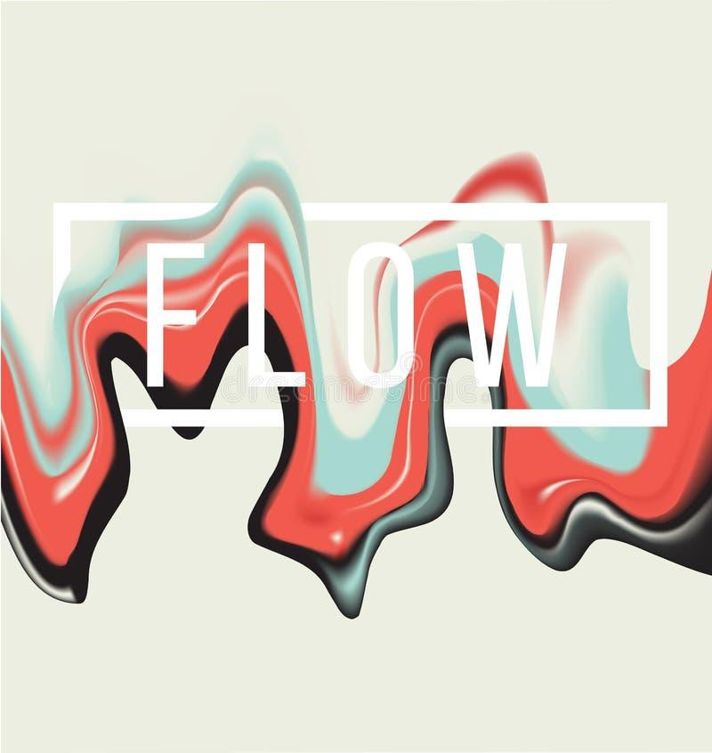 Farby spływowy tło ilustracji