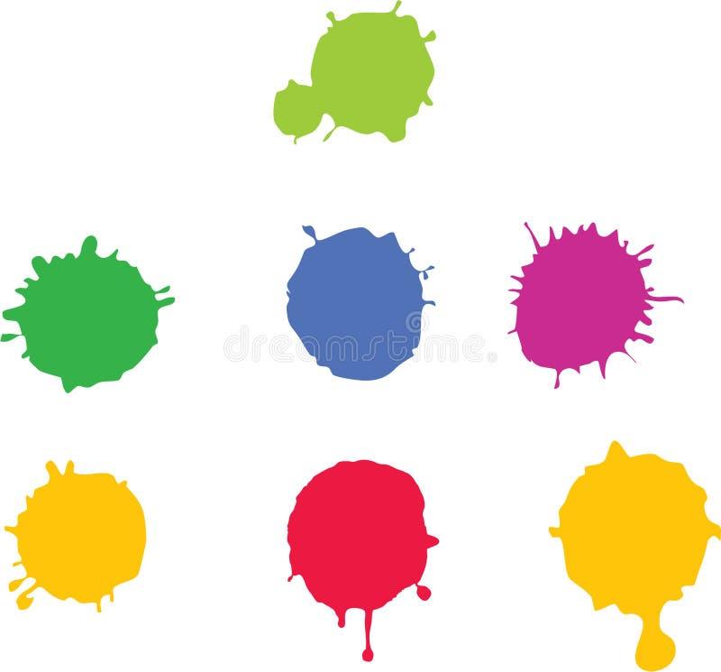 farby splat ilustracji