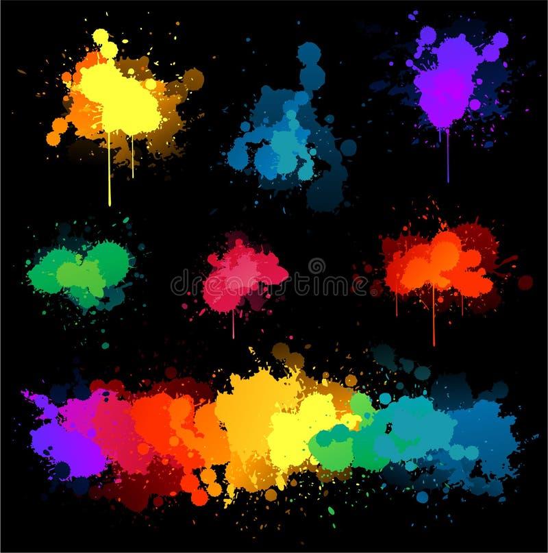 farby splat wektor ilustracja wektor