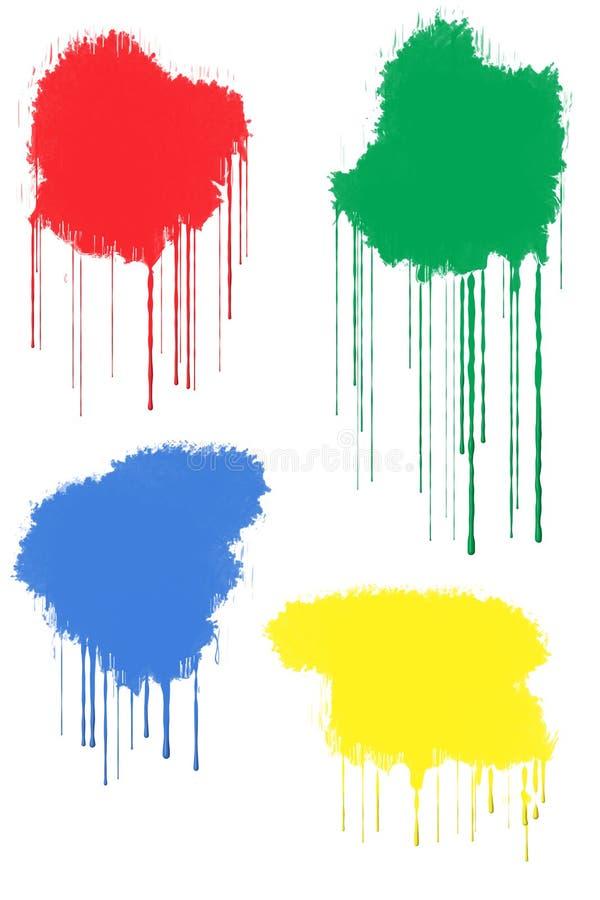 farby splats royalty ilustracja