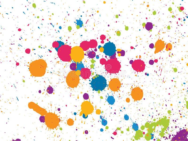 farby splatters royalty ilustracja