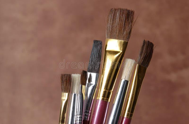 farby szczotka fotografia stock