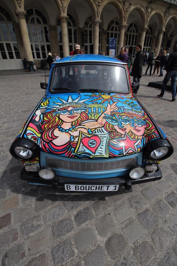 Farby sztuki samochód zdjęcia stock