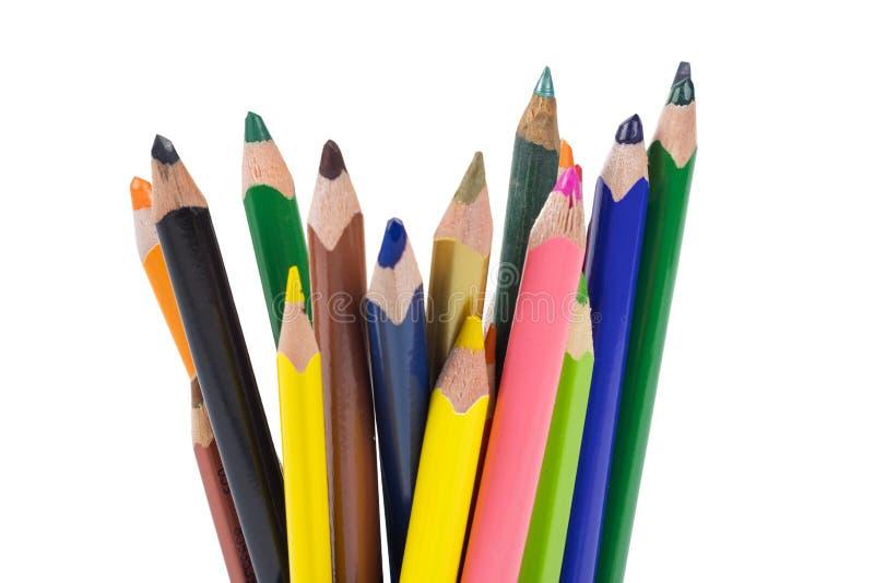 Farbzeichnungs-Bleistiftsatz stockbild