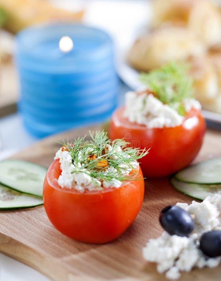 Farcito tomatoed immagine stock