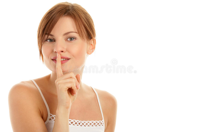 Fare tacere della donna fotografia stock