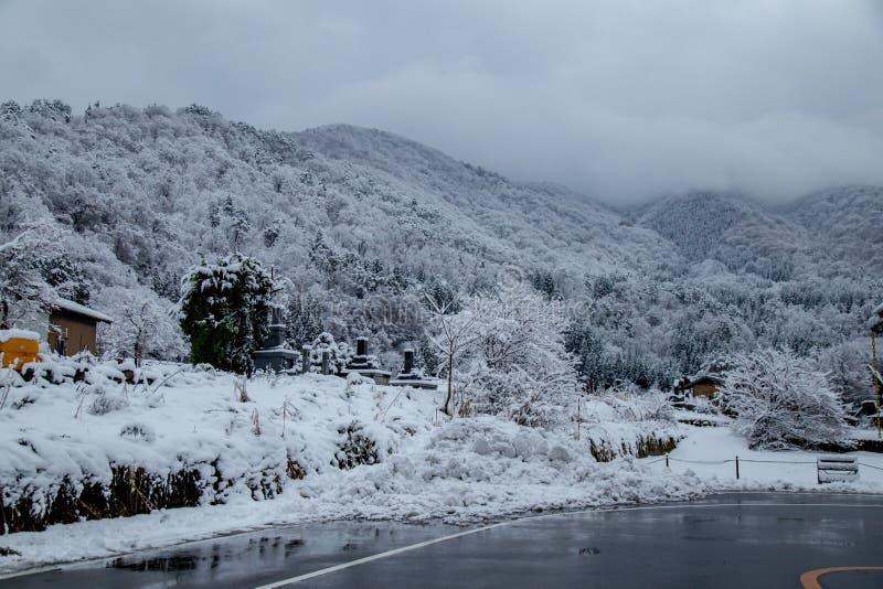 Fare un giro turistico intorno Shirakawa-va territorio comunale fotografie stock
