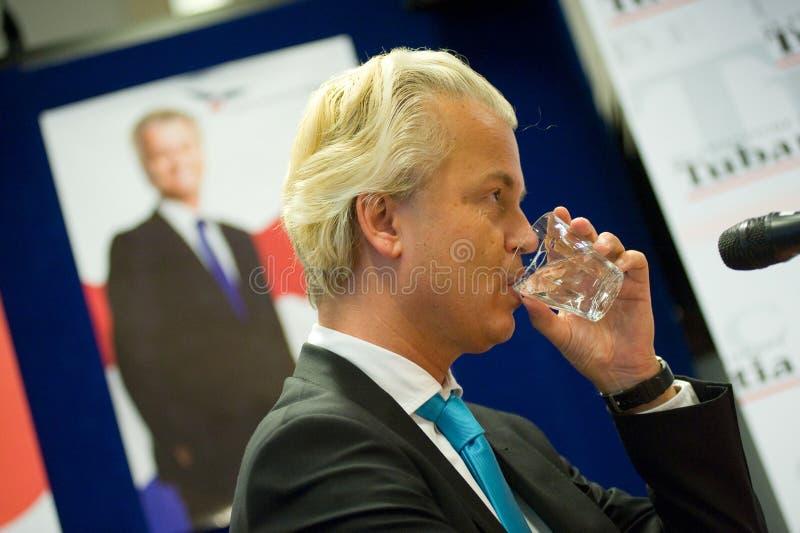 Fare una campagna di Geert Wilders immagini stock libere da diritti