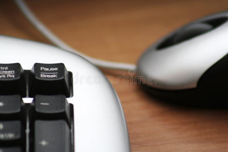 Fare una pausa-Rompa il tasto di tastiera fotografia stock libera da diritti