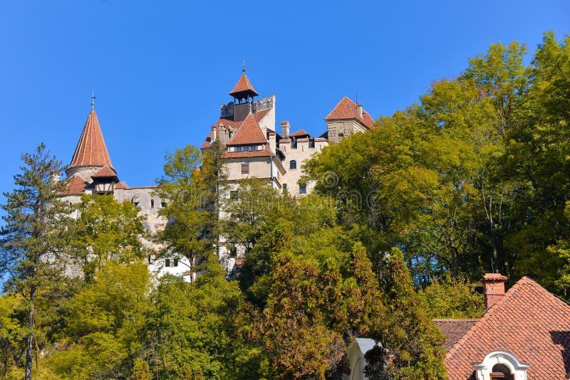 Farelo, castelo de Dracula no outono imagens de stock royalty free