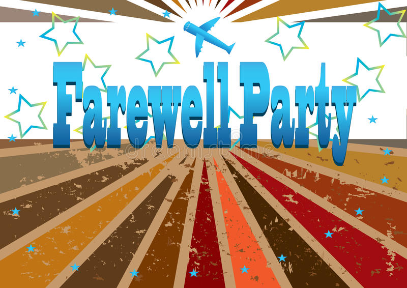 Farewell Party Banner_eps stock illustration