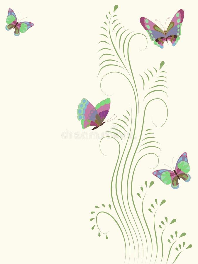 Farfalla. illustrazione di stock