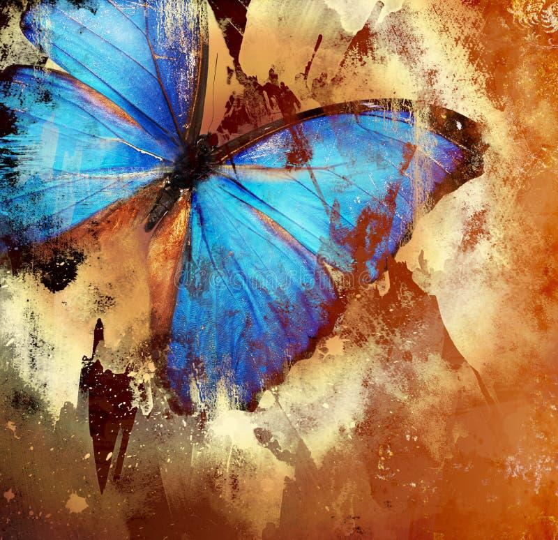 Farfalla blu royalty illustrazione gratis