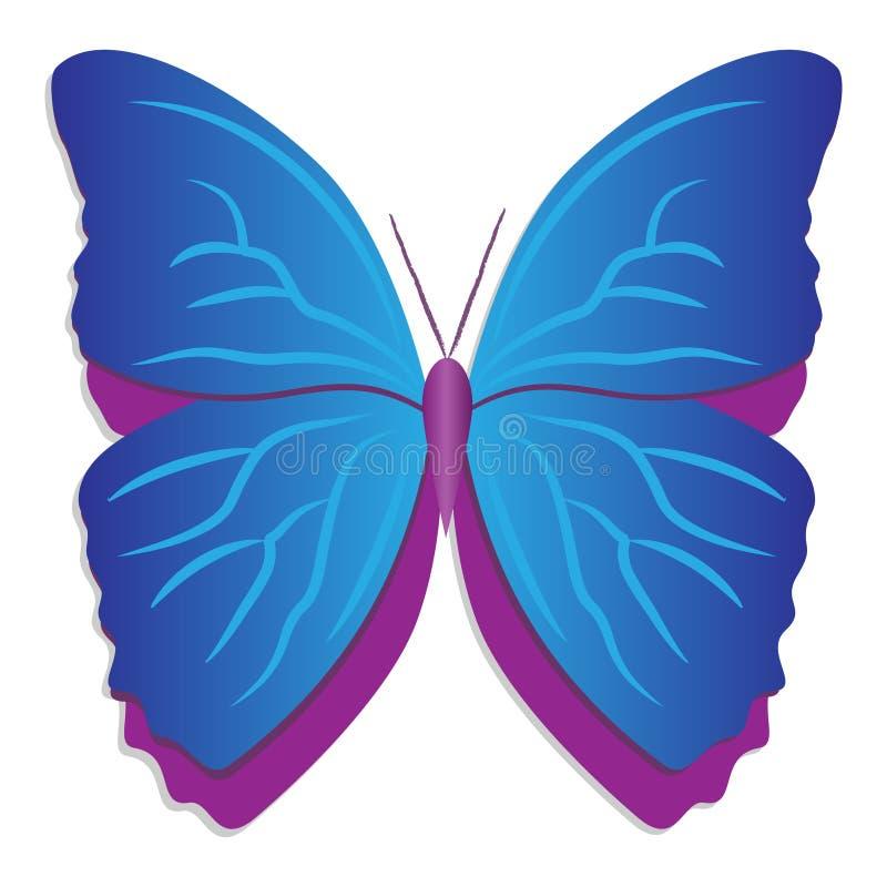 Download Farfalla blu illustrazione vettoriale. Illustrazione di arte - 3884474